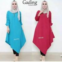 Pakaian Baju Atasan Wanita Muslim Gading Tunik Jumbo Terbaru