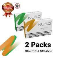 Paket NUSO 2 PACKS BROWN RASA ORIGINAL + GREEN RASA MENTHOL