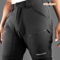 Celana Great&Go eazy fit celana gunung panjang quickdry Stretch pants