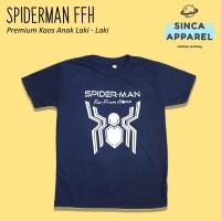 Baju Kaos Anak Cowok Laki - Laki Spiderman Far From Home Premium