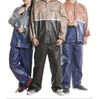 Jas Hujan Setelan Atas Bawah Celana dan Atasan Basic Duo 69108