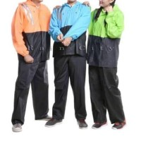 Jas Hujan Setelan Atas Bawah Celana Atasan Bawahan Basic Duo 69114
