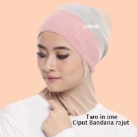 Ciput Rajut / Inner rajut premium / bandana rajut 2 in 1 / two tone