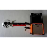 Paketan Gitar Ibanez S series Putih & Ampli Orange/Laney 8 Inch