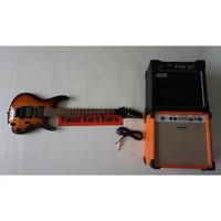 Paketan Gitar Ibanez S series Sunbrush & Ampli Orange/Laney 8 Inch