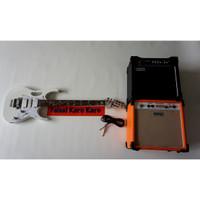 Paketan Gitar Ibanez Jem Flower Putih & Ampli Orange/Laney 8 Inch