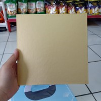 Papan Kue Kotak Warna Emas Coklat Cake Board 20cm