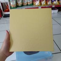 Papan Kue Kotak Warna Emas Coklat Cake Board 22cm