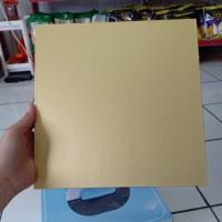Papan Kue Kotak Warna Emas Coklat Cake Board 25cm