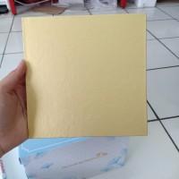 Papan Kue Kotak Warna Emas Coklat Cake Board 18cm