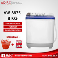 ARISA AW-8875 Mesin Cuci Blue