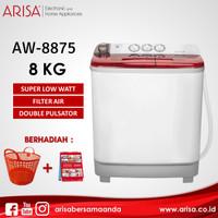 ARISA AW-8875 Mesin Cuci Red