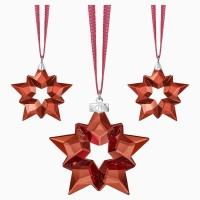Swarovski Dekorasi Pohon Natal Bintang Merah Crystal Kristal