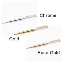 Swarovski Crystalline Basic 3 Warna Metallic Bolpen Pen