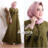 Baju Gamis Syari Wanita Terbaru Luna Long Maxi Dress Hijab Muslim PHG