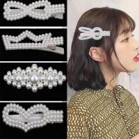 damai fashion jakarta - Korea Jepitan Lucu Jepit Rambut Mutiara Wanita