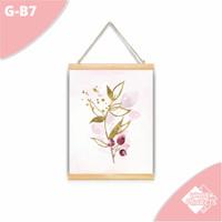 Hiasan dinding Kanvas Gantung bunga bunga shabbychic - G-B