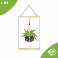Hiasan dinding Kanvas gantung ornament bunga gantung tropical - I-B