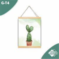Hiasan Kanvas Gantung dinding rumah motif Kaktus ornament kartun - G-T