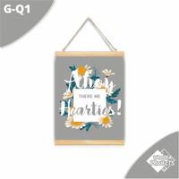 Hiasan Kanvas Gantung dinding Rumah quote Tropical series - G-Q