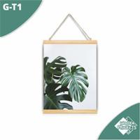 Hiasan dinding Kanvas Gantung motif Tropical Monstera - G-T