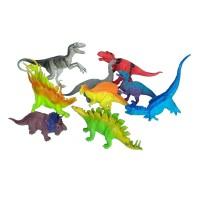 Dinos Set 9pcs Miniatur Mainan Dinosaurus Karet Besar
