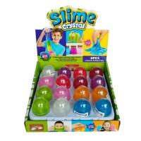 Slime Crystal Metalik Bentuk Telur Mainan Anak