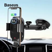 BASEUS SMART VEHICLE ADSORPTION CAR PHONE HOLDER WIRELESS CHARGER