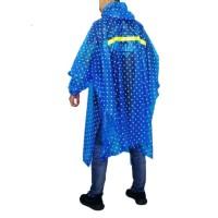 Jual Jas Hujan atasan Ponco Pulkadot Biru U0005 UP2202