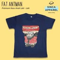 Baju Kaos Anak Laki - Laki Fat Antman Lengan Pendek Premium