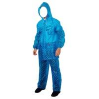 Jual Jas Hujan setelan jaket celana UPR Polkadot Biru U0006 210915