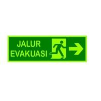 Safety Sign Cutting Stiker Jalur Evakuasi Exit Emergrncy Fosfor acrily