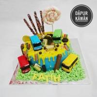 Jual Kue Ulang Tahun Karakter Tayo Blackforest Kota Tangerang Kawan Accessories Tokopedia