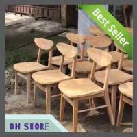 [HOT SALE] Kursi Cafe Dan Restoran Kayu Jati Murah Unfinishing 02