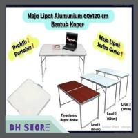 [HOT SALE] Meja lipat Aluminium model koper 01