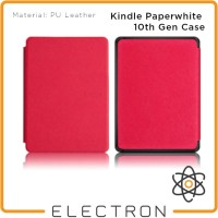 Kindle Paperwhite 10th Gen Case Merah Red PU Leather 10 Generation