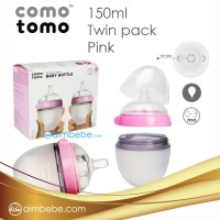Botol Bayi Comotomo Twin Pack 150ml - pink