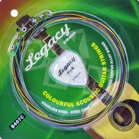 Senar Gitar Warna Akustik Strings Legacy B407C Colourful Guitar String