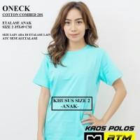Kaos Polos Cotton Combed 20s Lengan Pendek Anak Size 2