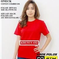 Kaos Polos Cotton Combed 20s Lengan Pendek Big Size 4XL - Warna