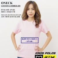 Kaos Polos Cotton Combed 20s Lengan Pendek Anak Size 1