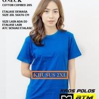 Kaos Polos Cotton Combed 20s Lengan Pendek Big Size 2XL - Warna