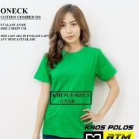 Kaos Polos Cotton Combed 20s Lengan Pendek Anak Size 3
