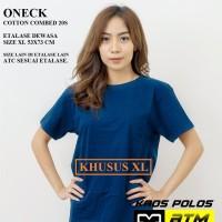 Kaos Polos Cotton Combed 20s Lengan Pendek Dewasa Size XL - Warna