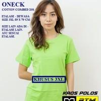 Kaos Polos Cotton Combed 20s Lengan Pendek Big Size 3XL - Warna