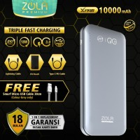 ZOLA Premium XPro 10000mAh Powerbank PD & QC3.0 Free Kabel Micro Usb