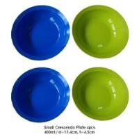 Tupperware Paket 4pcs Small Crescendo Plate Ungu Hijau