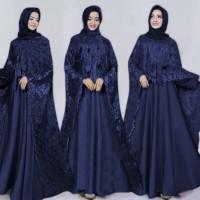 Maxi Anindya Saten Bridal Tebal/Maxi Cape/Longcape/Gamis Pesta Muslim