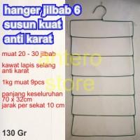 Hanger (gantungan) jilbab kawat tebal 6 susun