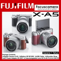 FUJIFILM X-A5 Silver Kit XC 15-45mm f/3.5-5.6 OIS PZ - Garansi 1th